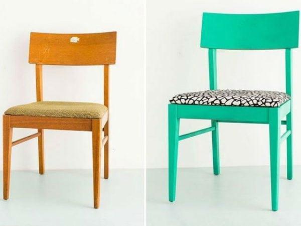 старый стул до и после