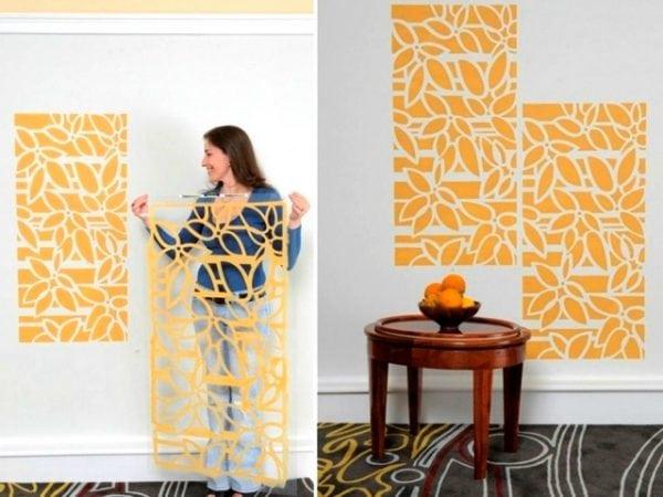 Использование трафаретов для покраски стен