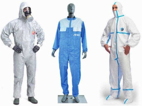Различные защитные костюмы для покраски