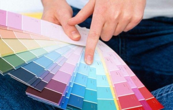 Фактура и цвет краски