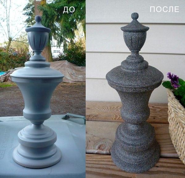 Ваза до и после покраски
