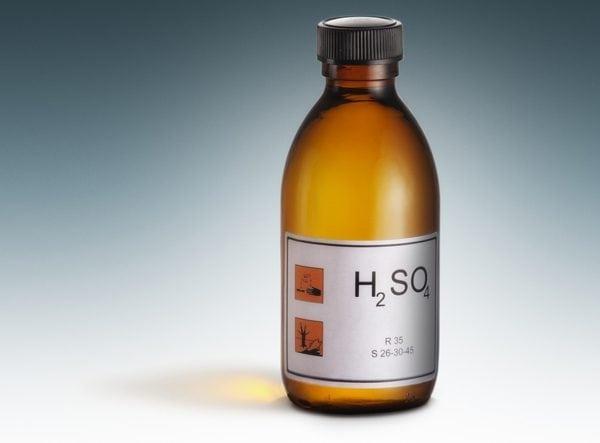 Серная кислота для удаления цементного раствора