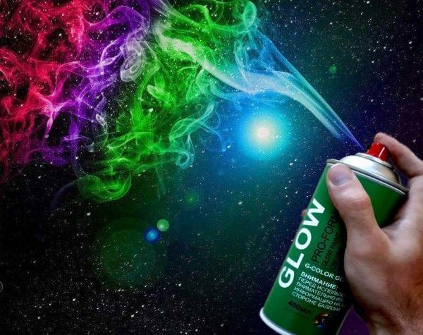 Флуоресцентная аэрозольная краска для декора
