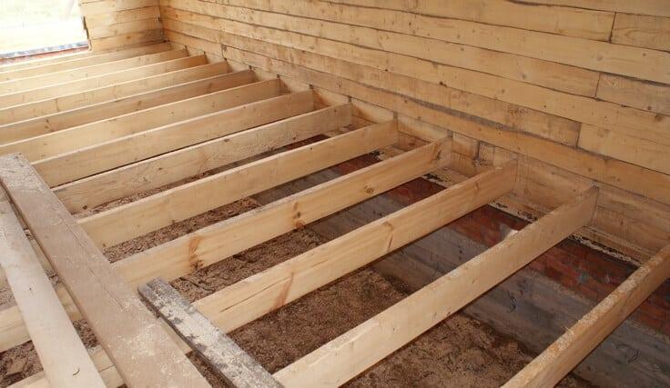 Защита деревянного пола от влаги и гниения
