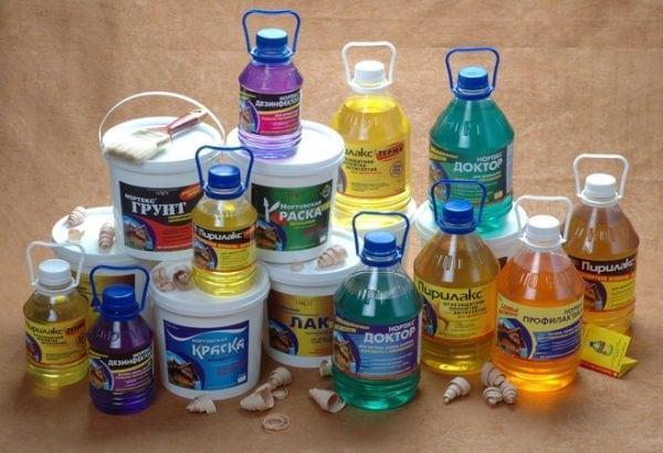 Пропитки с составом пентахлорфенола
