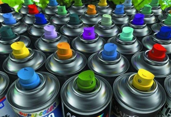 Разнообразие аэрозольных красок в баллончиках
