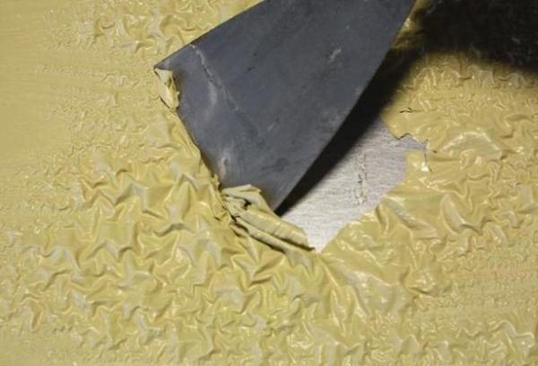 Краска после обработки смывкой