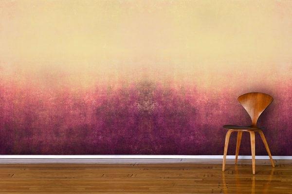 Дизайнерская окраска стены с переходом