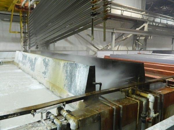 Окунание изделия в горячую пресную воду