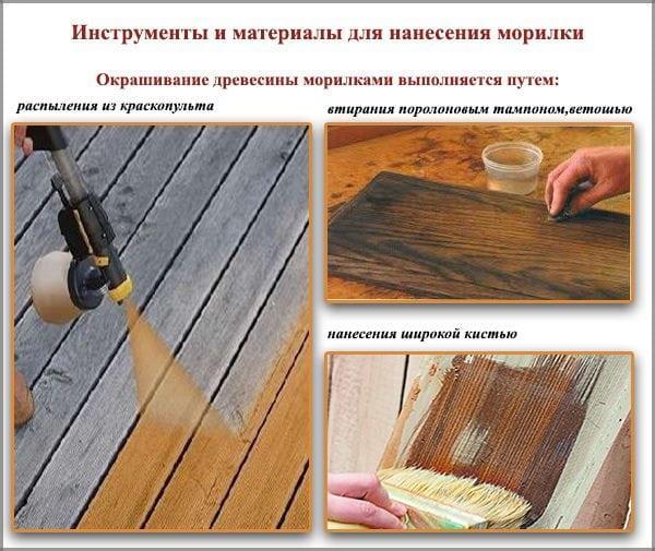 Способы нанесения морилки