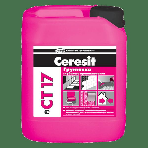 Грунтовка глубокого проникновения «Ceresit»