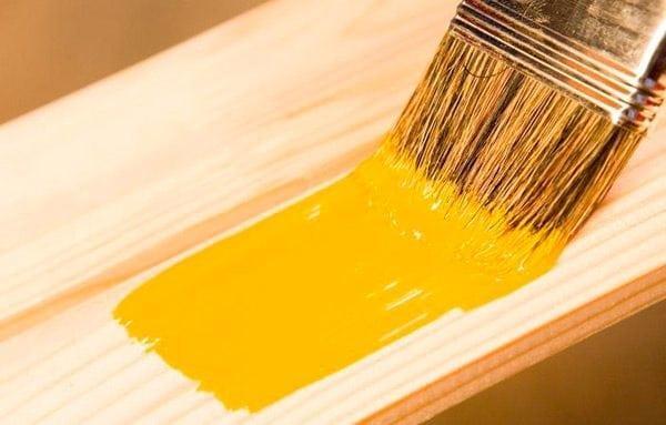 Покраска дерева акриловой краской