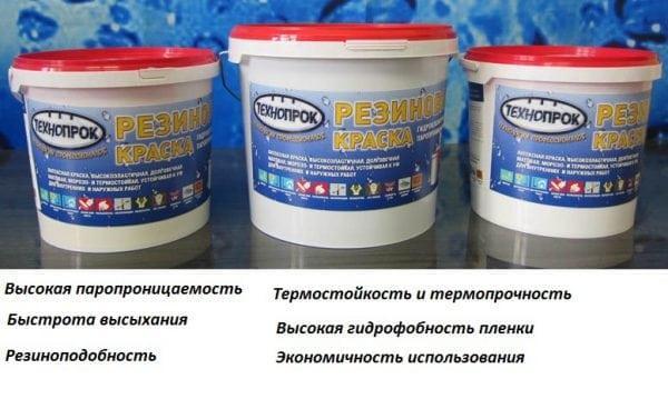 Некоторые свойства резиновой краски