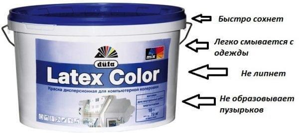 Преимущества латексной краски