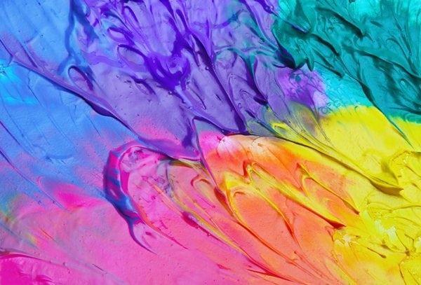 Смешивание разных красок