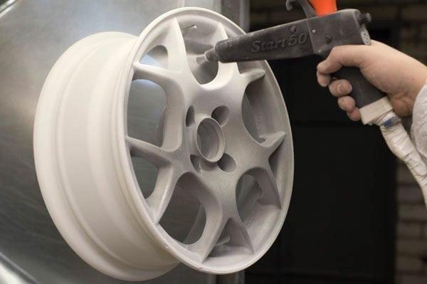 Окрашивание автомобильных дисков порошковой краской