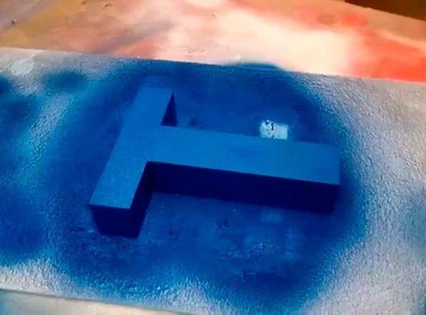 Покраска вспененного пенополистирола