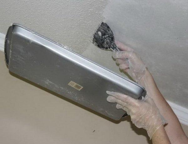 Удаление водоэмульсионной краски механическим способом