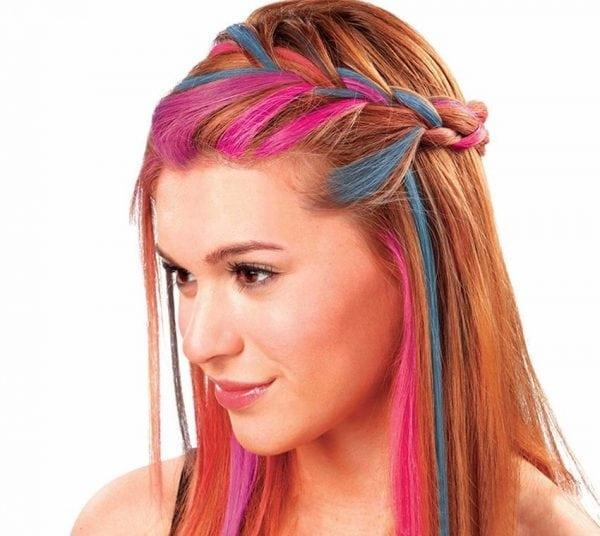Меловая аэрозольная смываемая краска на волосах