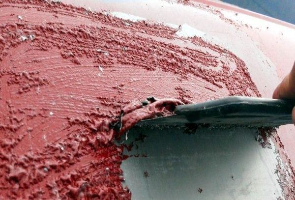 Удаление старой краски смывкой