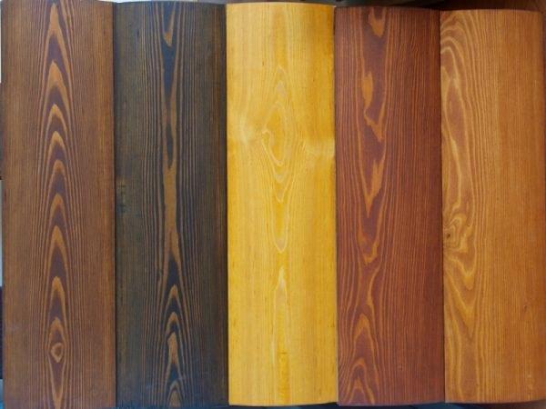 Возможные цвета пропитки для дерева для наружных работ