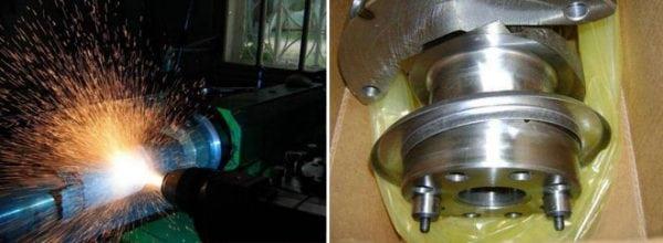 Высокотемпературное плазменное напыление и восстановленная деталь