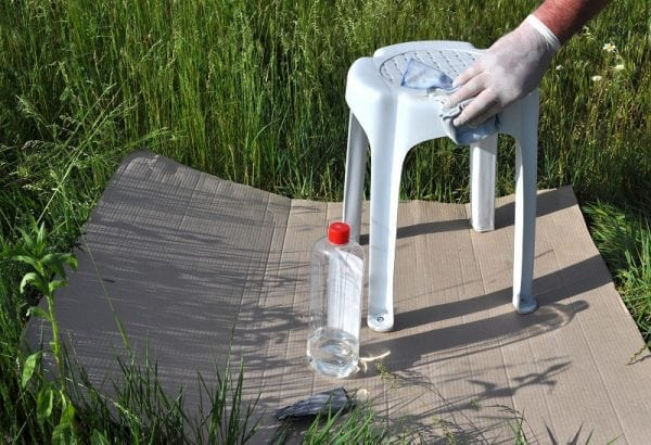 Обезжиривание поверхности из пластика
