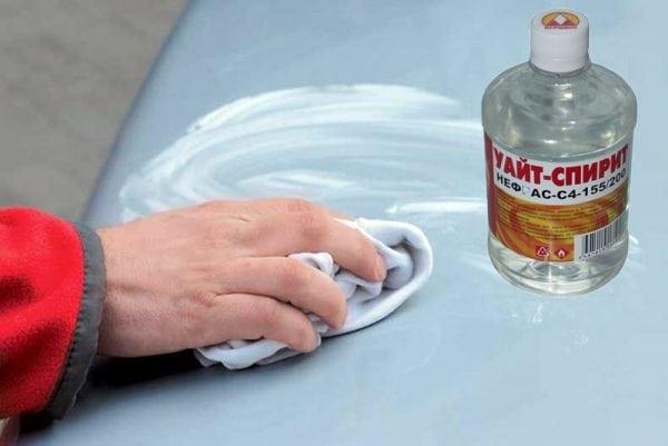 Использование Уайт-спирита для обезжиривания поверхности