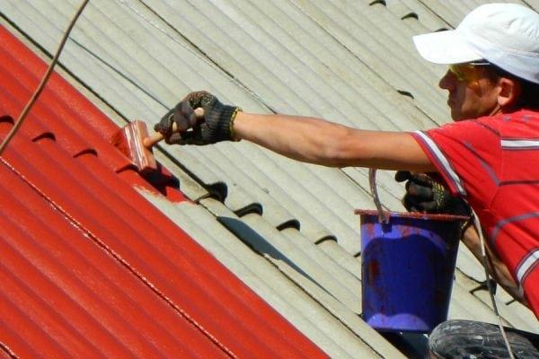 Покраска шиферной крыши эмалью ПФ-115