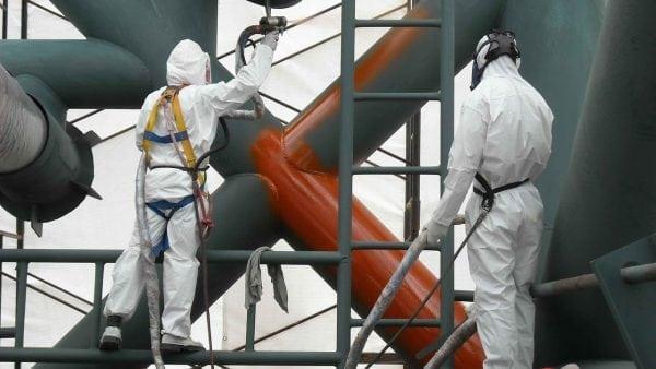 Покраска строительных конструкций эмалью ХВ-785