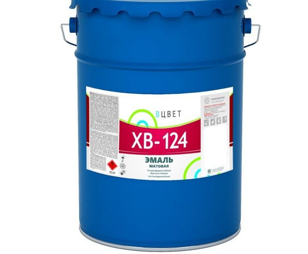 Краска ХВ-124 устойчива к атмосферным воздействиям