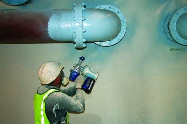 Нанесение КО-198 методом пневмораспыления