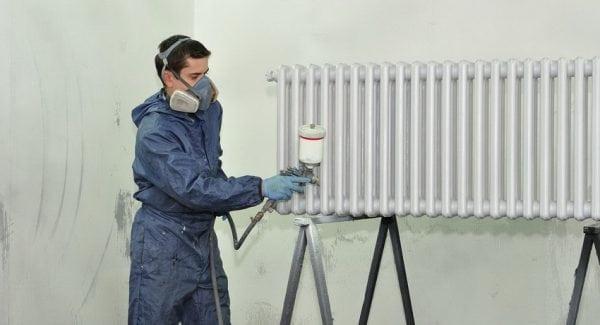 Окрашивание радиатора отопления термостойкой эмалью