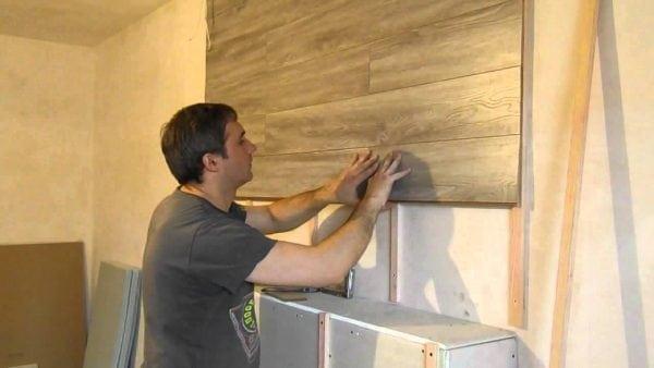 Каркасный способ укладки ламината на стену