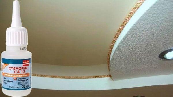 Клей Cosmofen подходит для склеивания натяжных потолков из винила