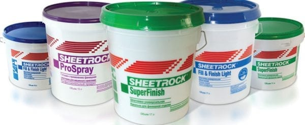 В состав шпаклевок Sheetrock входят минералы и антигрибковые компоненты