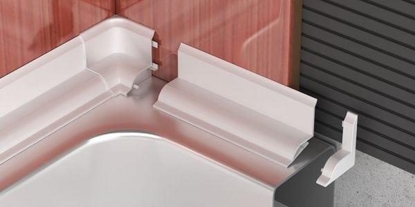 Монтаж пластикового бордюра для ванны