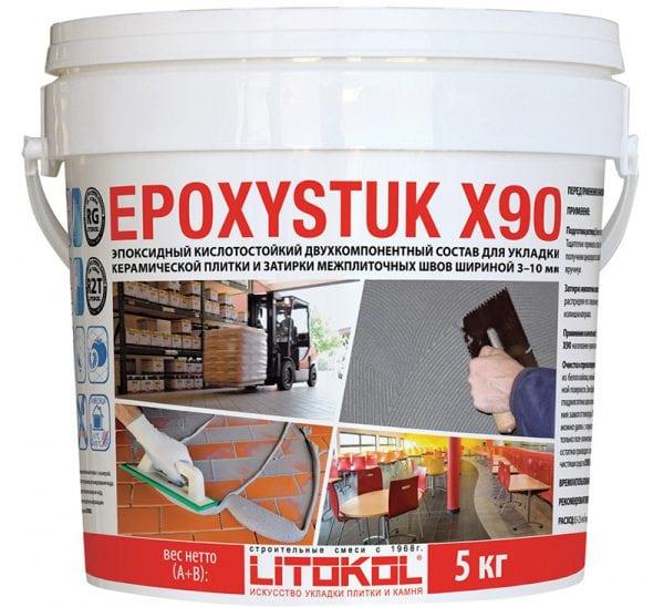 Эпоксидная кислотостойкая затирка EPOXYSTUK X90
