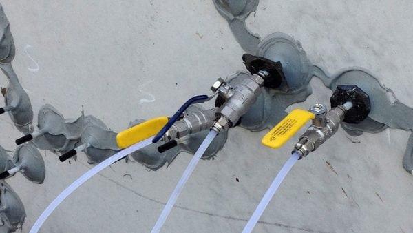 Процесс инъектирования бетона