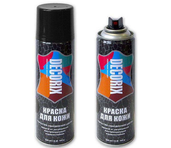 Аэрозольная краска для защиты и обновления изделий из гладкой кожи DECORIX