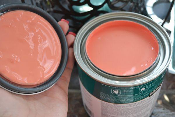 Персиковый цвет часто используется для оформления интерьера