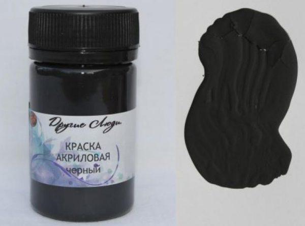Черная краска для живописи