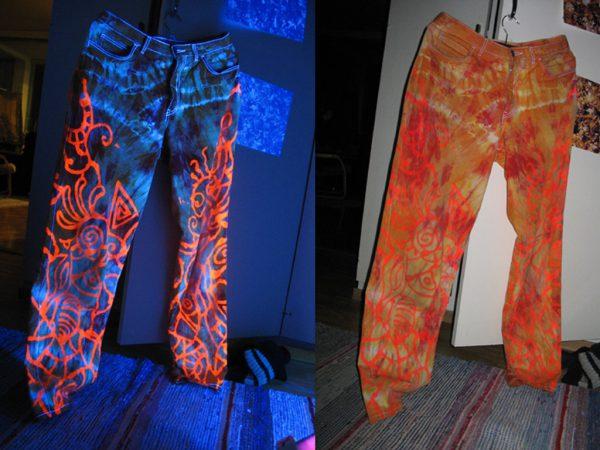 Флуоресцентные краски для текстиля