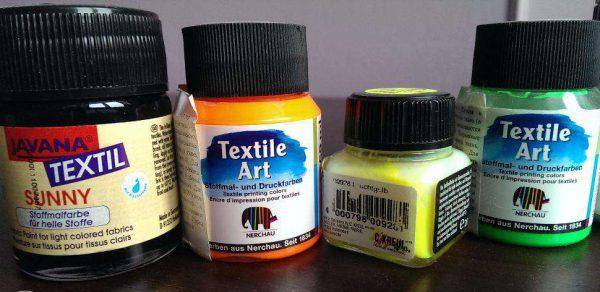 Краски акриловые по ткани водостойкие Textile Art