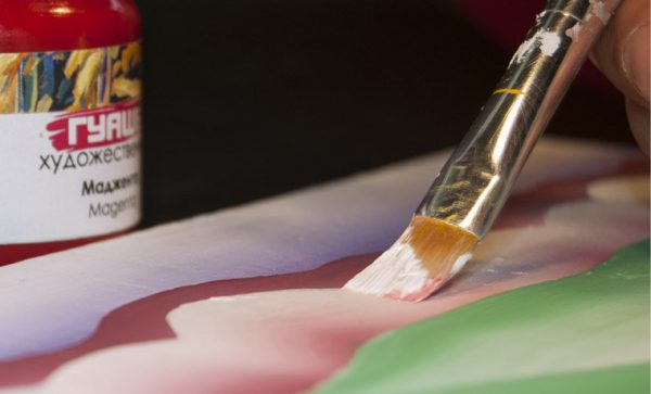 Послойное нанесение краски