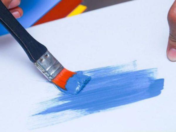 Серые тона синего получаются добавлением в синь оранжевой краски