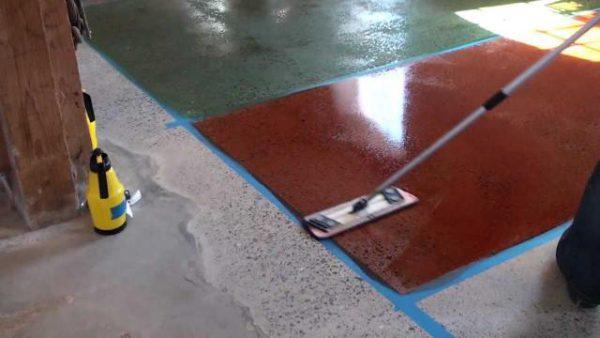 Цветные упрочняющие составы для бетона