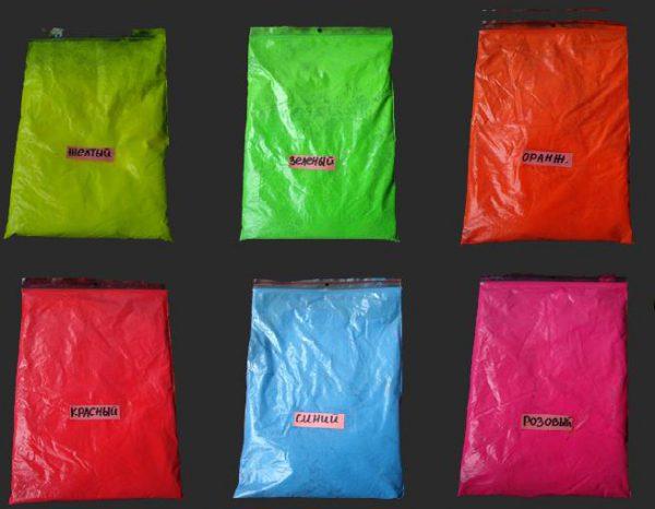 Флуоресцентные пигменты для цементного раствора