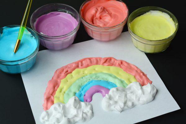 Изготовление пальчиковых красок из пены для бритья