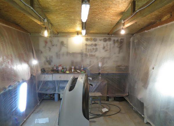 Обустройство покрасочной камеры в гараже